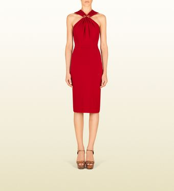Gucci Raspberry Halter Dress - Lyst