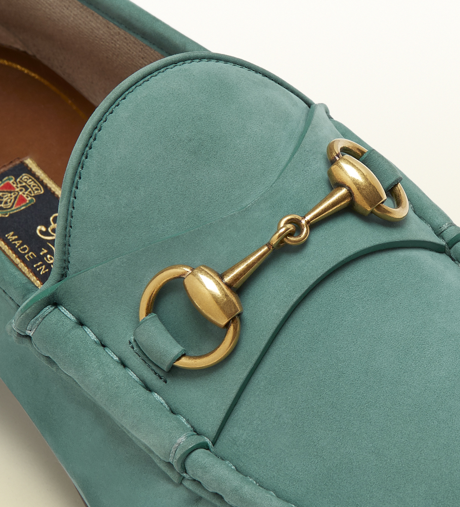 e2653ede3 Gucci 1953 Horsebit Loafer In Suede in Green for Men - Lyst