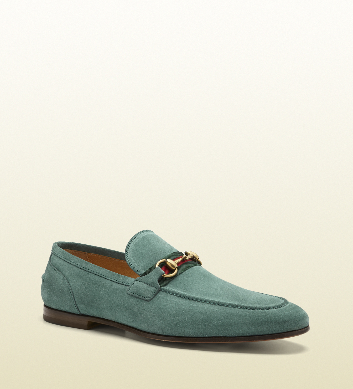 gucci suede horsebit loafer in blue for men lyst. Black Bedroom Furniture Sets. Home Design Ideas