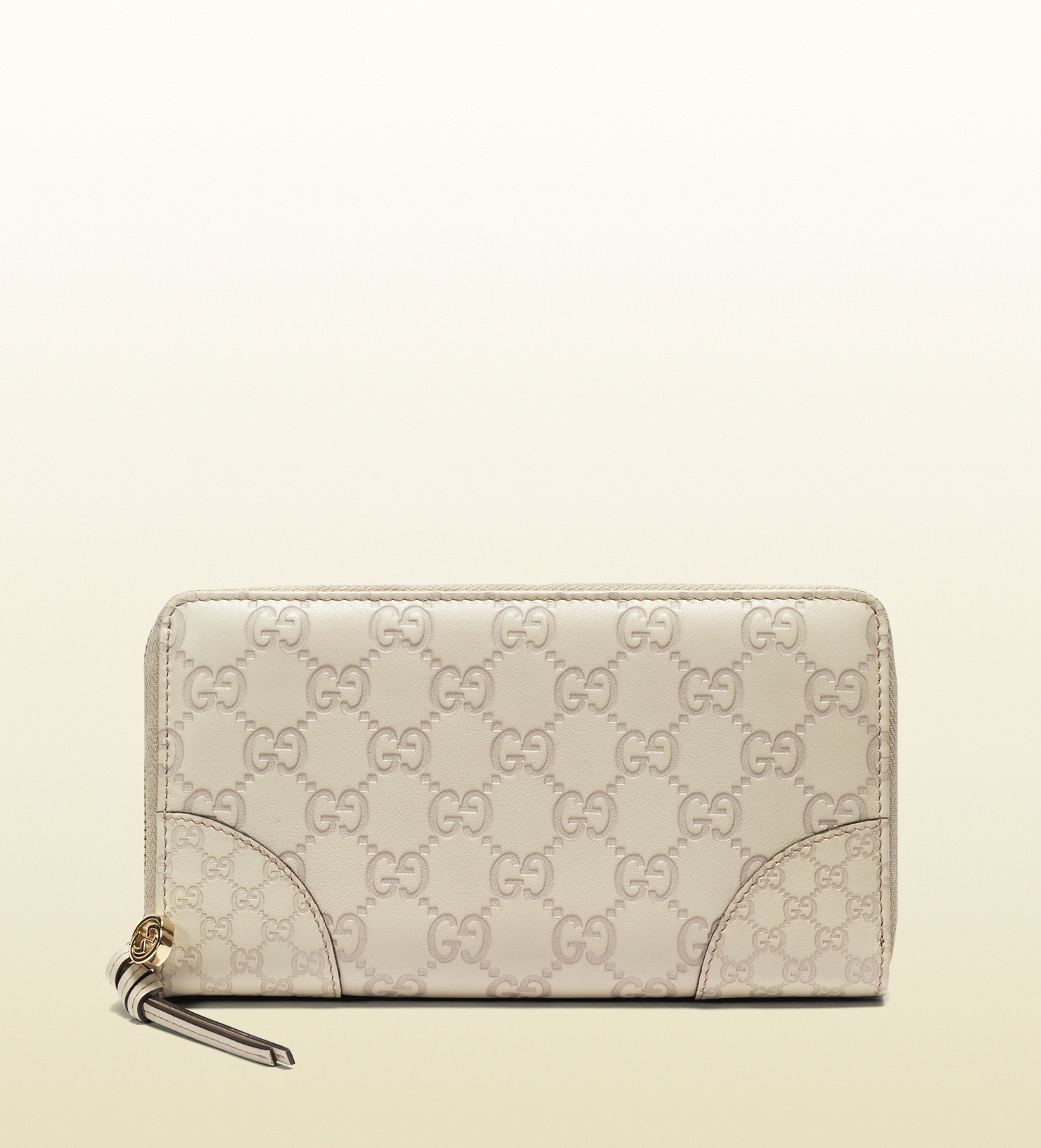Lyst - Gucci Bree Ssima Leather Zip Around Wallet in White