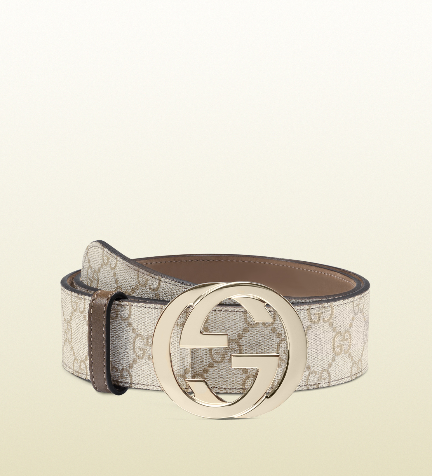 Gucci Gg Supreme Canvas Belt with Interlocking G Buckle in ...