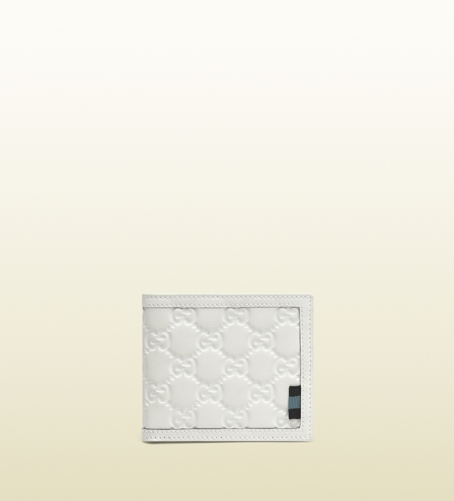 ca49055ea4f Lyst Gucci Rubber Ssima Leather Bifold Wallet In White For Men