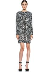Isabel Marant Maybe Leopard Charmeuse Dress - Lyst