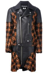 Junya Watanabe Checked Faux Leather Coat - Lyst