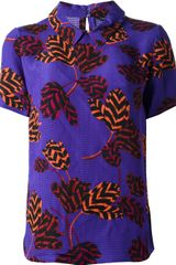 Marc By Marc Jacobs Tulip Print Silk Top - Lyst
