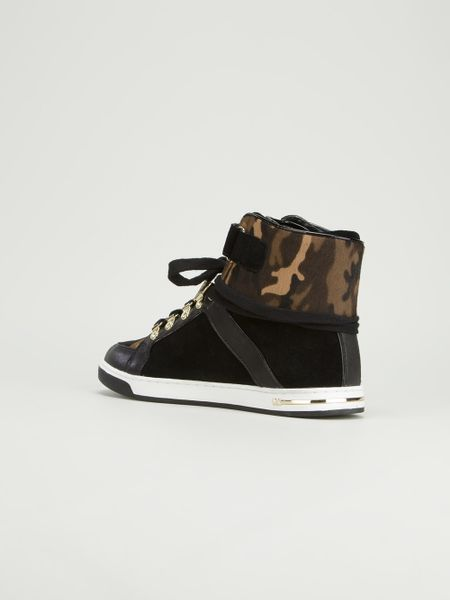 Michael Michael Kors Greenwich High Top Fashion Sneakers Michael Kors Greenwich