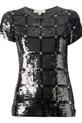 Michael Kors Sequinned Tshirt - Lyst