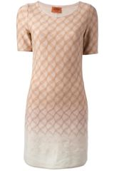 Missoni Knitted Short Sleeve Dress - Lyst