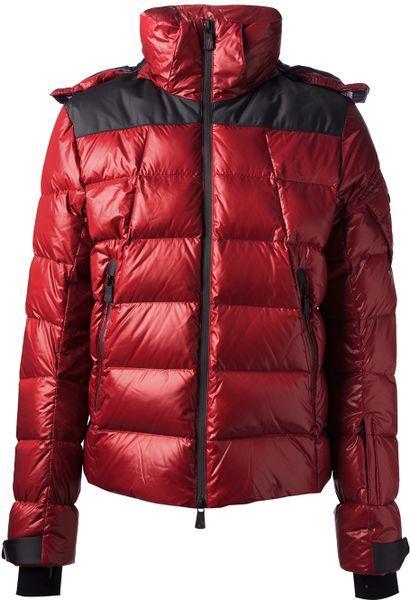 Moncler Grenoble Puffer Jacket In Red For Men Lyst