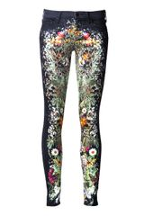 Mother Denim Wildflower Print Jean - Lyst