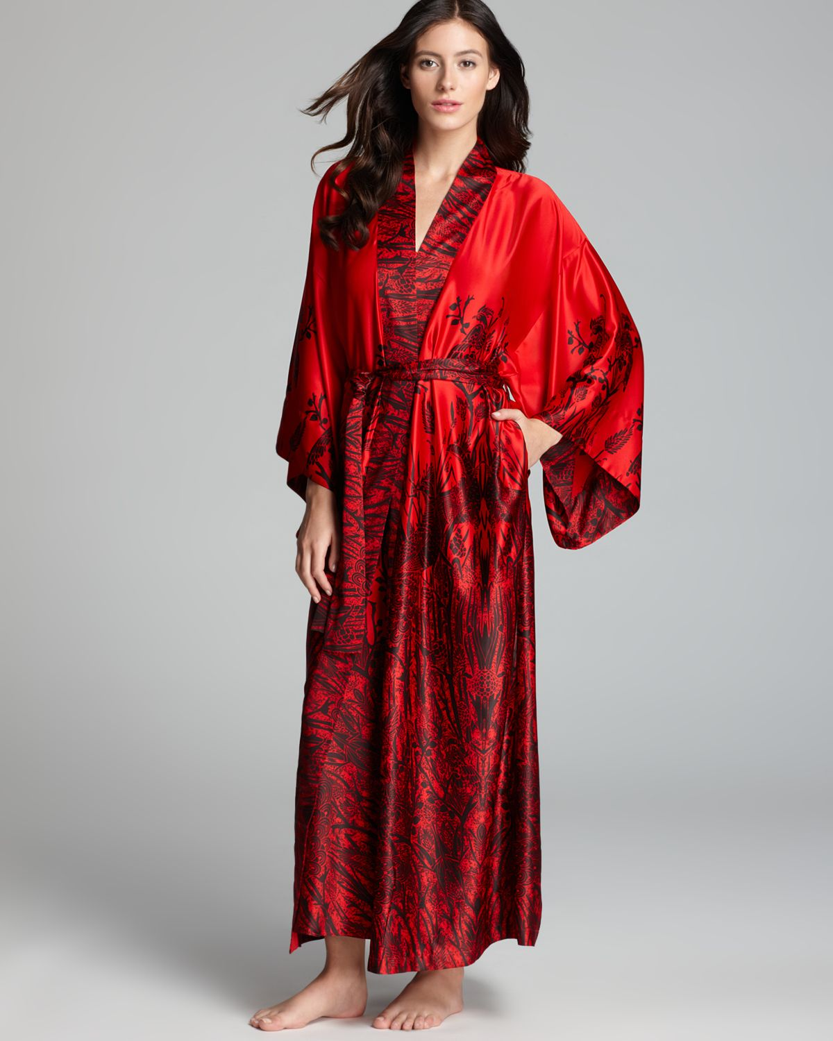 Lyst - Natori Phoenix Robe in Red