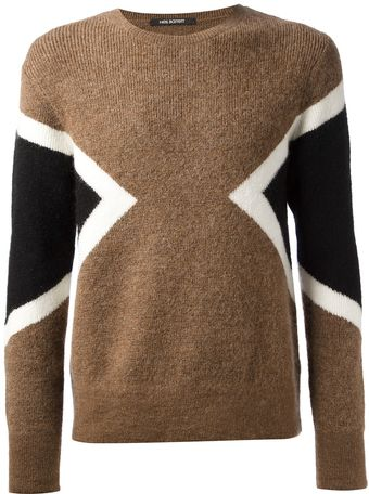 Neil Barrett Tricolour Sweater - Lyst