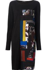 Paul Smith Black Label Printed Sweater Dress - Lyst