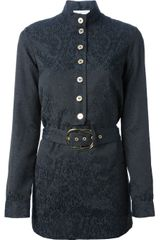 Pierre Balmain Belted Shirt Dress - Lyst