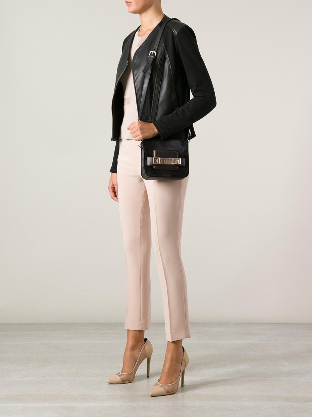 Ps11 Mini Leather Shoulder Bag - Black Proenza Schouler 4DH1QSad
