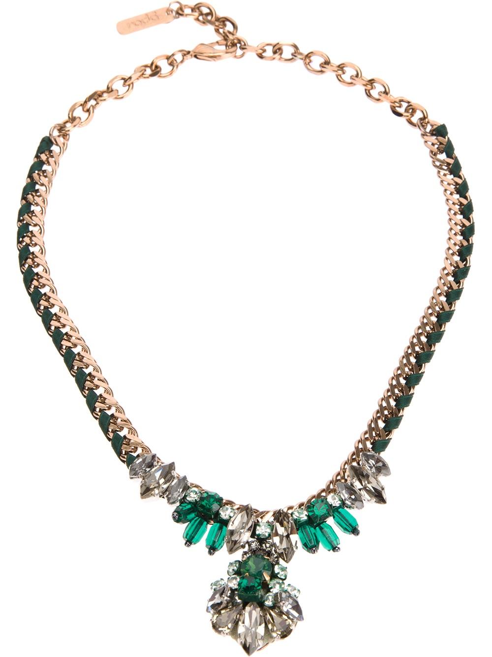 Rada embellished bead necklace - White BmXdNt