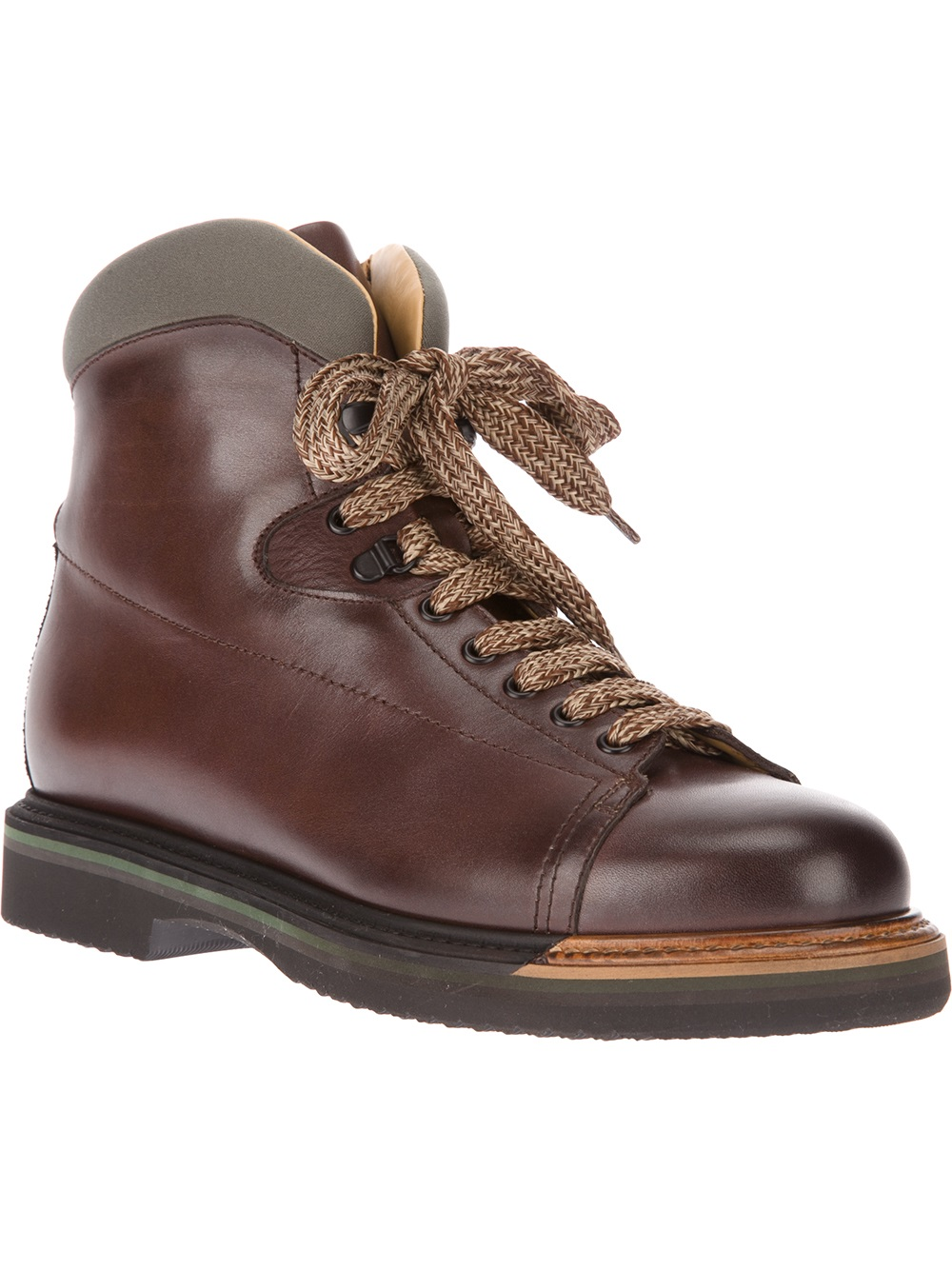santoni hiking boot in brown for lyst