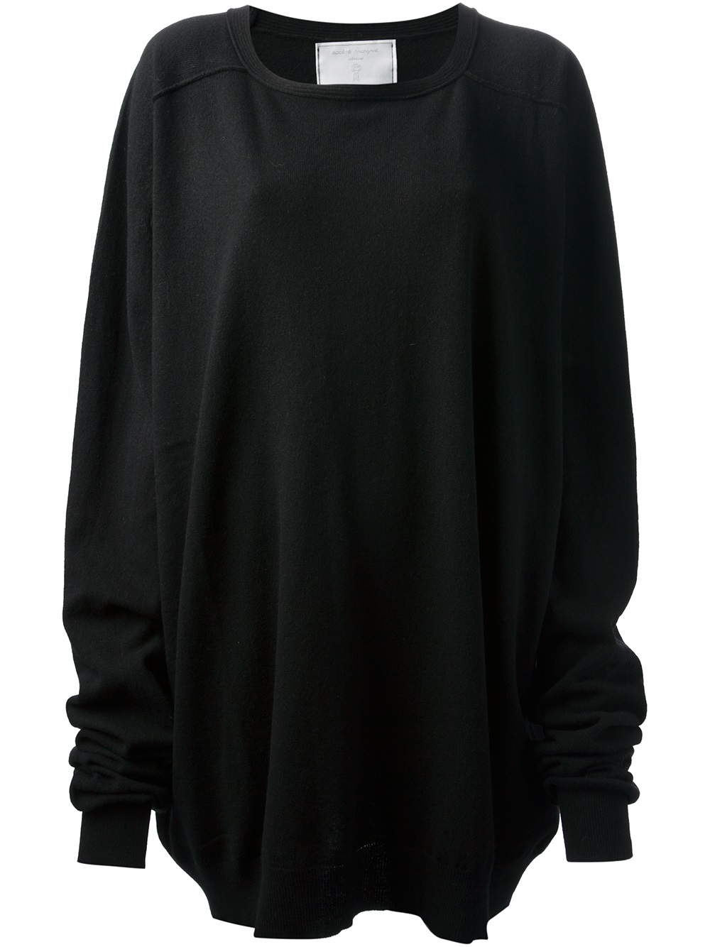 Lyst Societe Anonyme Oversized Jumper Dress Or Top In Black