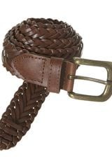Topman Tan Leather Weave Belt - Lyst