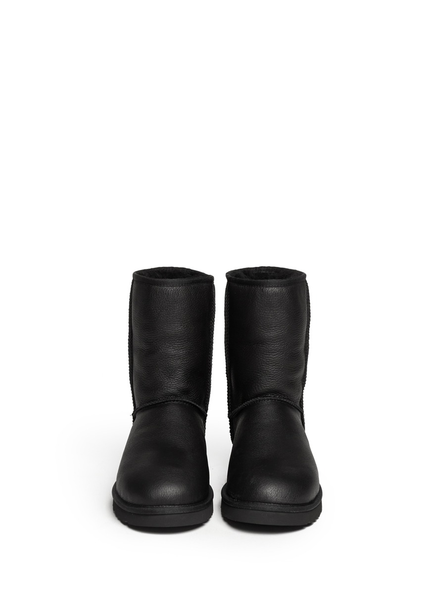 Lyst Ugg Classic Short Leather Boots In Black For Men