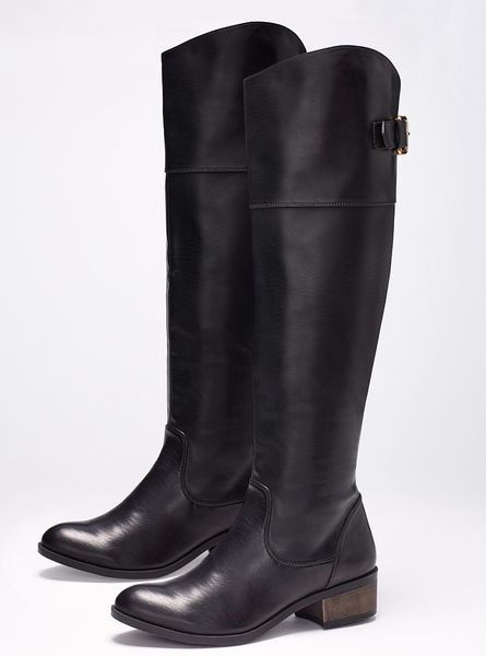 Victoriau0026#39;s Secret Tall Riding Boot In Black | Lyst