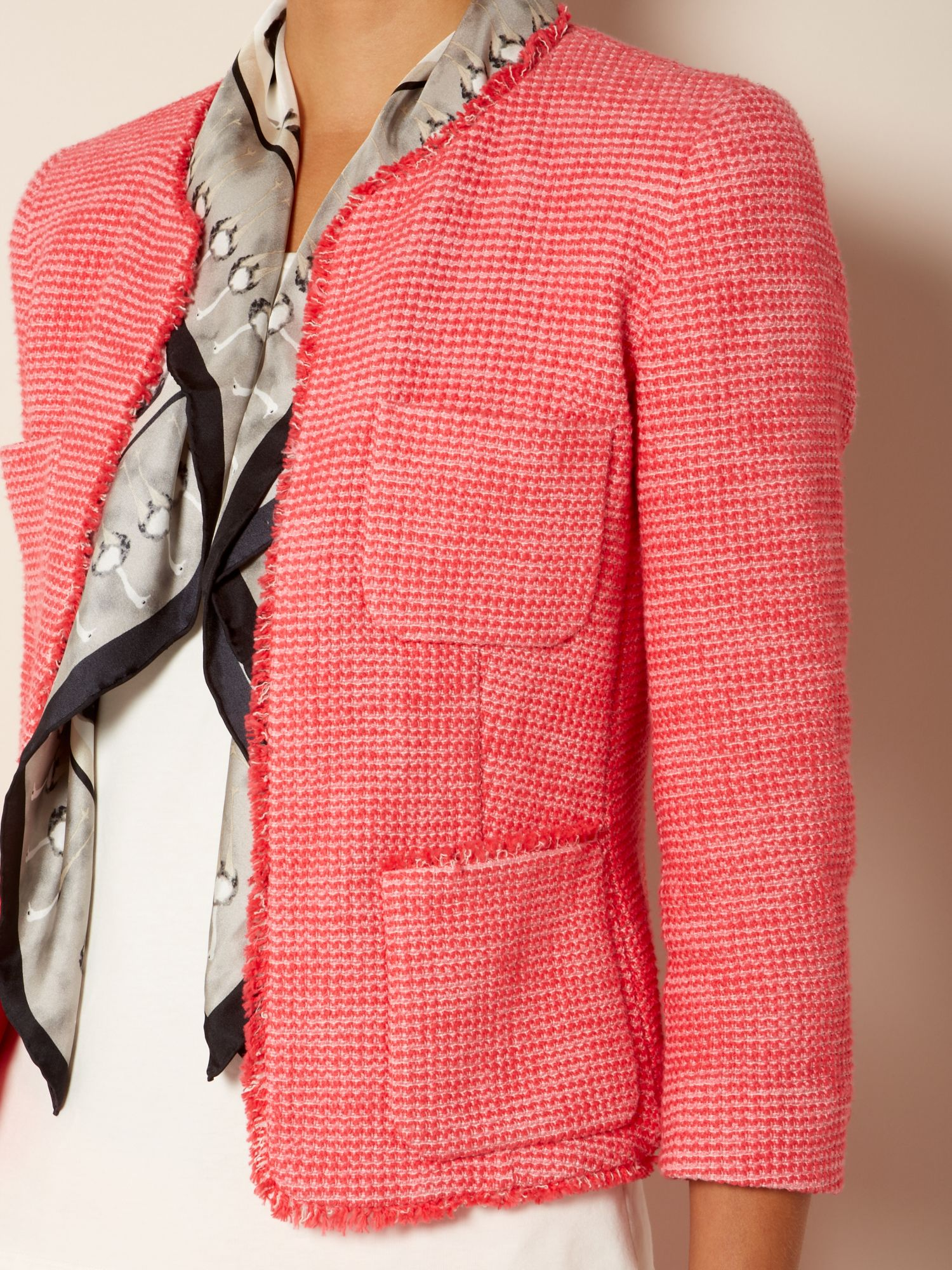 Lyst - Weekend by maxmara Mattino Frayed Boucle Jacket in Pink