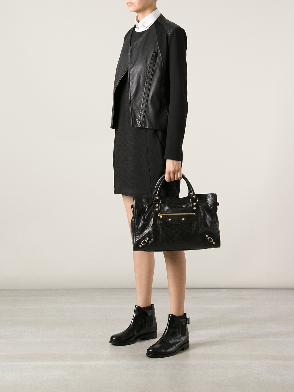 Balenciaga Arena Classic City Bag In Black Lyst