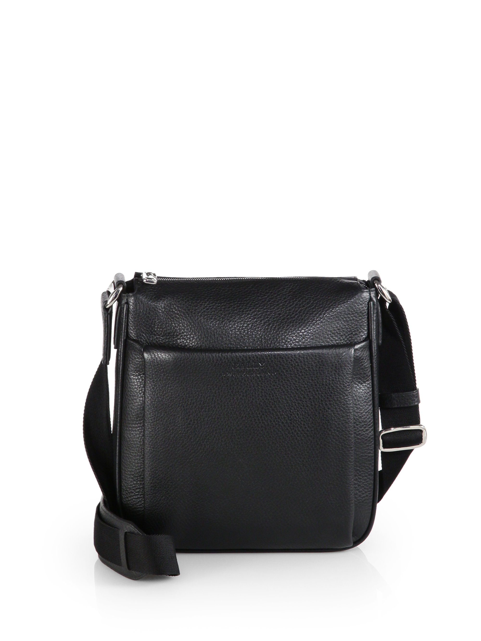 Bally Milano Leather Crossbody Bag In Black For Men Lyst