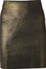 Balmain Metallic Skirt - Lyst