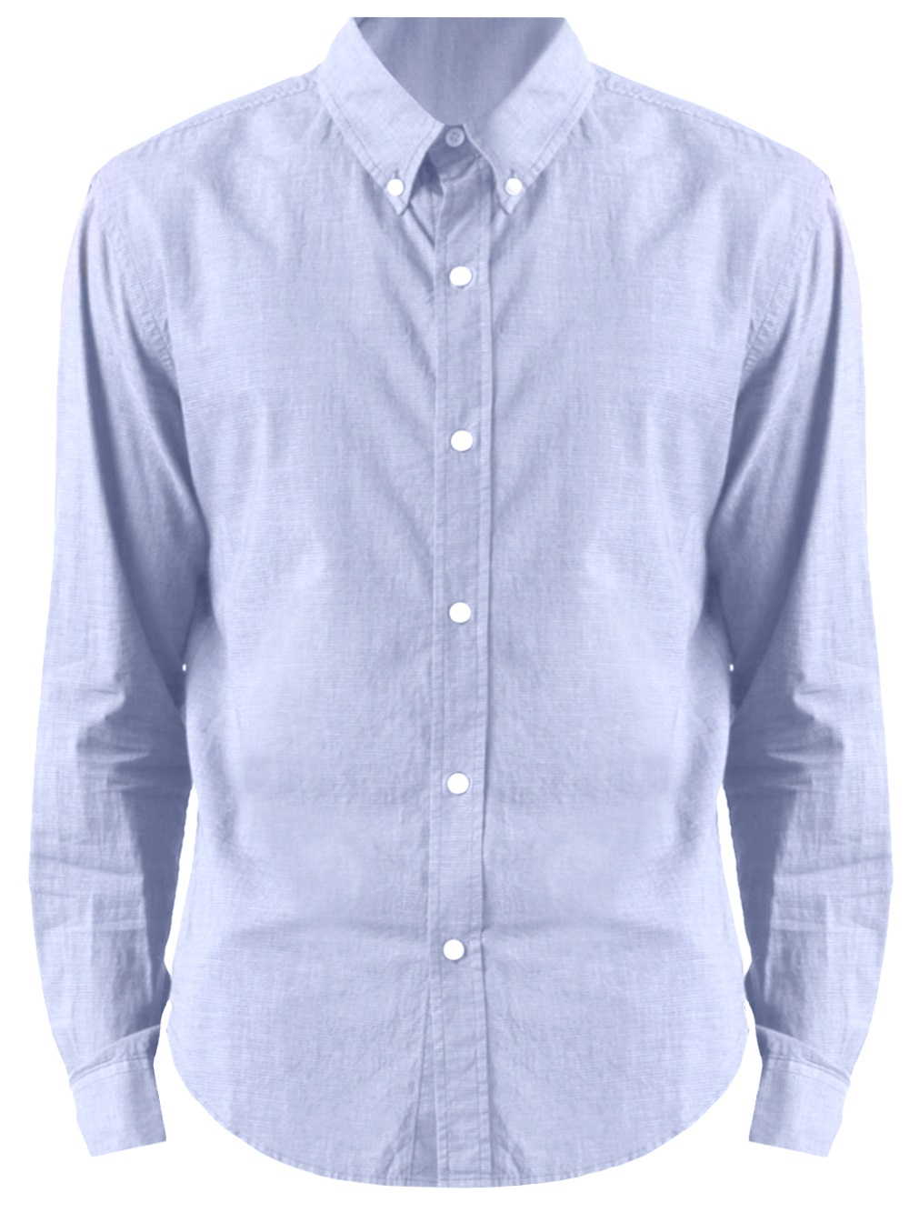 Band of outsiders button down dress shirt in blue for men for Button down uniform shirts