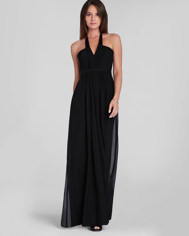 bb258a3a576 Bcbg Black Long Halter Dress - Women s Dresses
