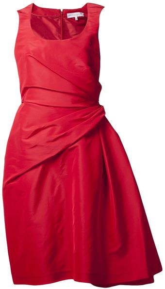 Carolina Herrera Asymmetrical Back Bow Dress - Lyst