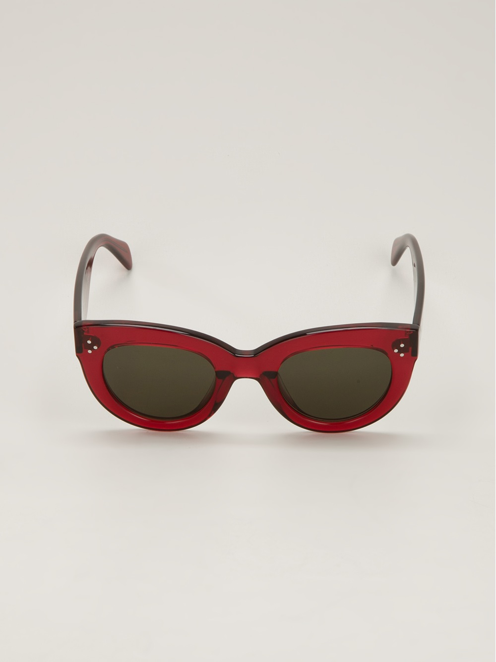 Celine Red Sunglasses  céline cats eye sunglasses in red lyst