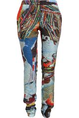 Chalayan Textured Abstract Printed Trousers - Lyst