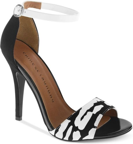 laundry lucky charm evening sandals in black