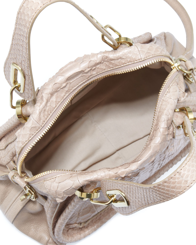 Chlo¨¦ Paraty Python Shoulder Bag in Beige (SAND) | Lyst