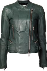 Closed Lamb Leather Moto Jacket - Lyst