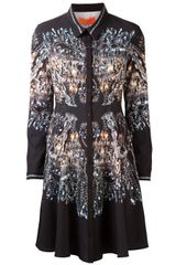 Clover Canyon Chandelier Print Shirt Dress - Lyst