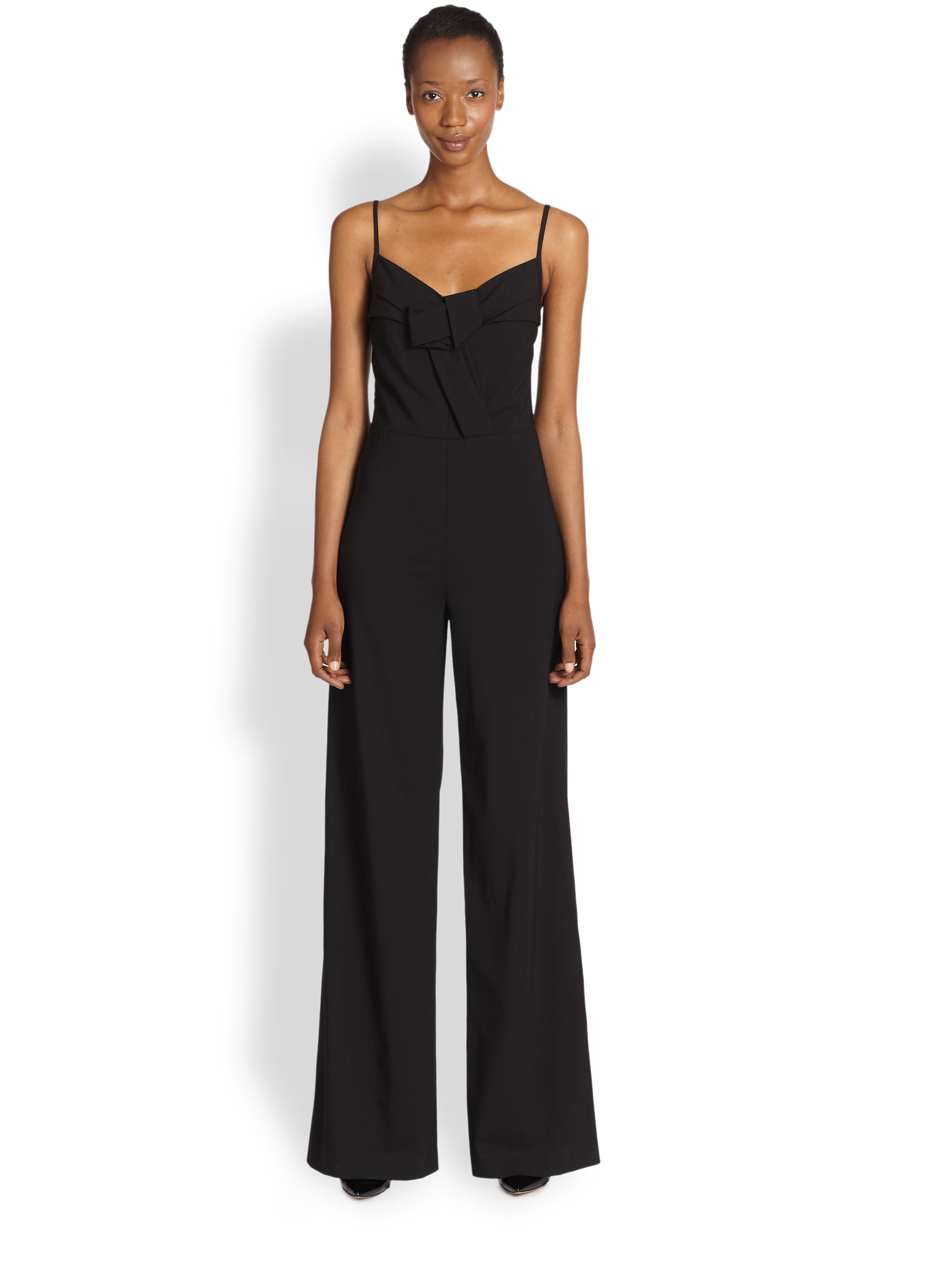 c7857fb0543c Lyst - DKNY Camisole Jumpsuit in Black
