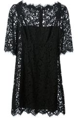 Dolce & Gabbana Lace Fitted Dress - Lyst