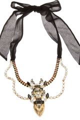 DSquared2 Swarovski and Ribbon Necklace - Lyst