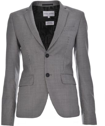 Each X Other Black and White Houndstooth Checked Jacket - Lyst