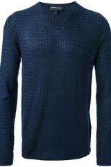 Emporio Armani V-neck Sweater - Lyst