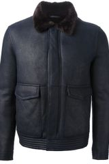 Emporio Armani Zipped Jacket - Lyst