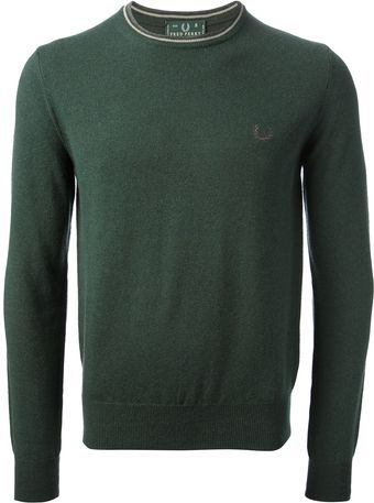 Fred Perry Crew Neck Sweater - Lyst