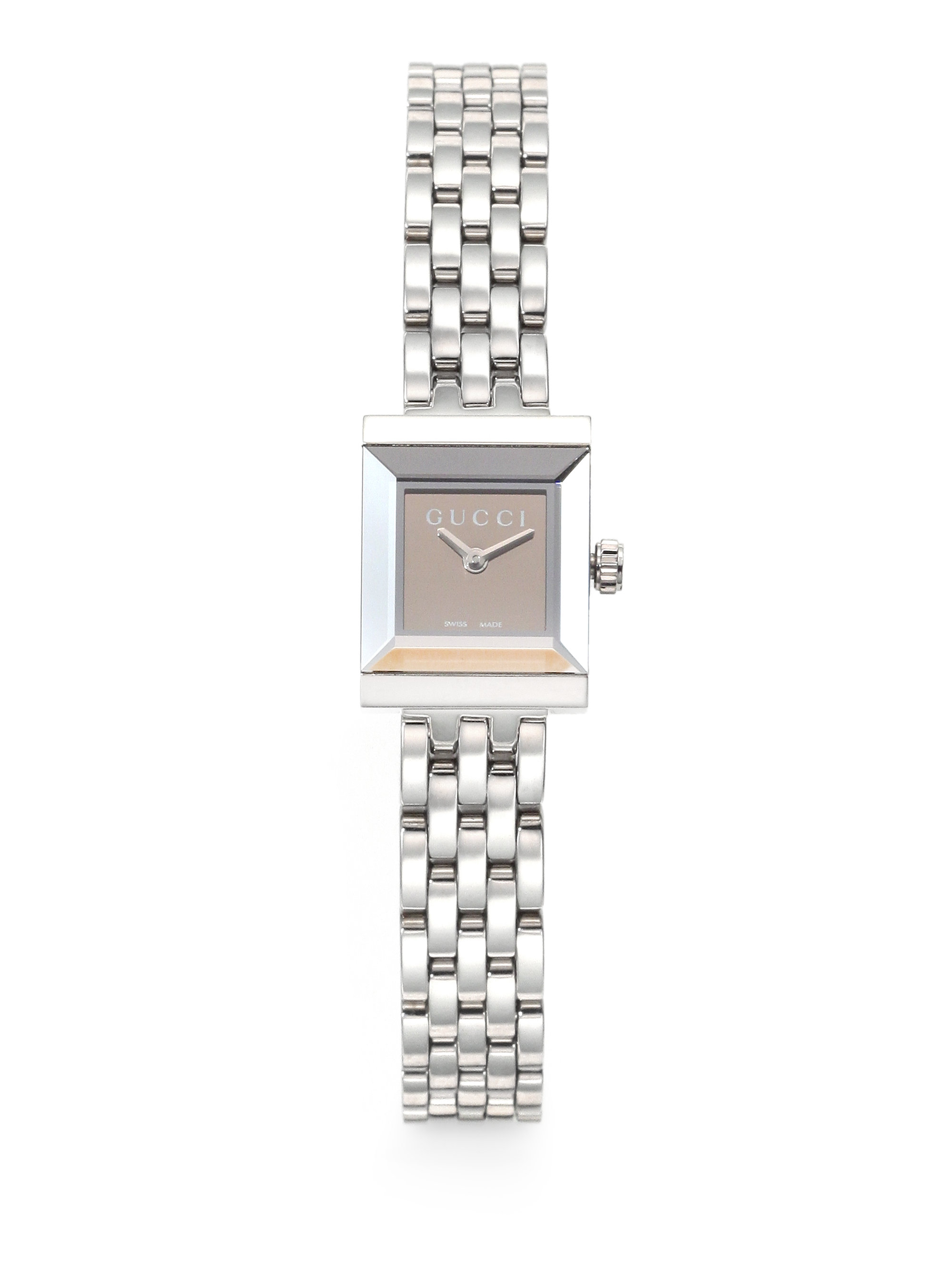 Lyst - Gucci G-frame Stainless Steel Square Watch in Metallic