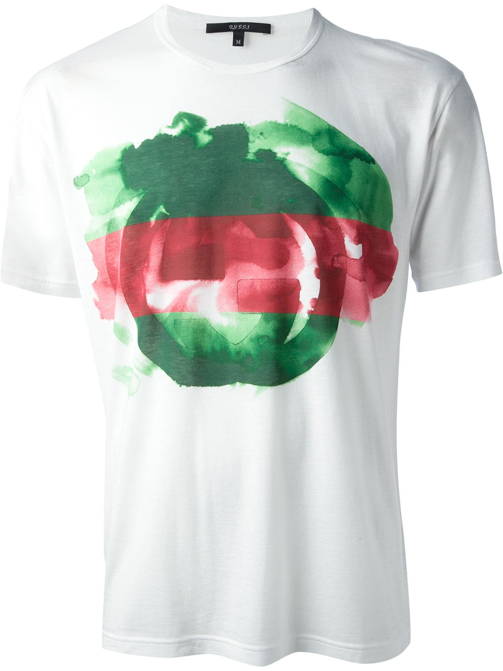 0fcb782b Gucci Printed T-shirt in White for Men - Lyst