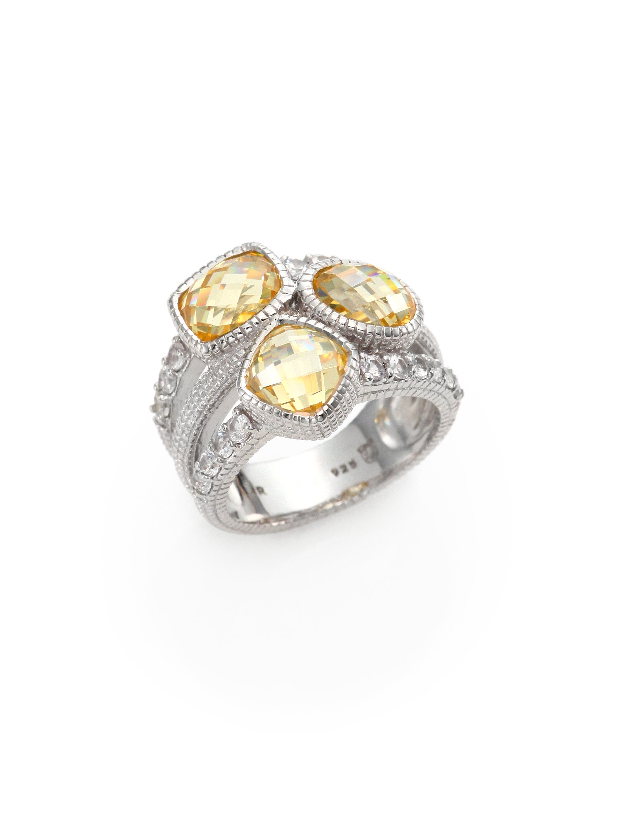 Judith Ripka Isabella Canary Crystal White Sapphire
