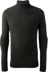 Juun.j Roll Neck Ribbed Sweater - Lyst