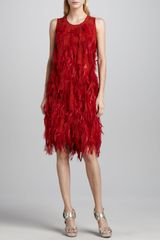 Michael Kors Pamush Feathercovered Dress - Lyst